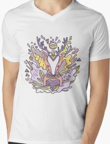 Abstract deer Mens V-Neck T-Shirt