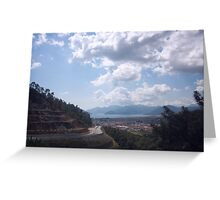 Descent Into Marmaris Greeting Card