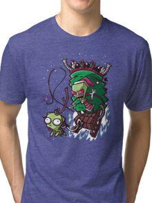 Zim Stole Xmas Tri-blend T-Shirt