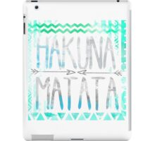 lion king hakuna matata blue and grey with arrows  iPad Case/Skin