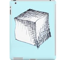 Freehand cube sketch  iPad Case/Skin