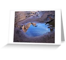 Zion Canyon Reflection Detail Greeting Card