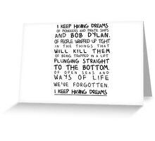 I am Disappeared Lyric Print Greeting Card