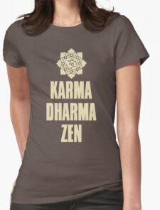 Karma Dharma Zen Womens Fitted T-Shirt