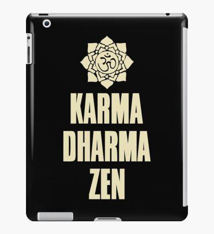 Karma Dharma Zen iPad Case/Skin
