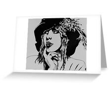 Stevie Nicks with Feathered Beret Greeting Card