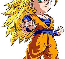 Goku Super Saiyan 3 Chibi by DOPEFLVR