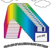 Floppy Disk Rainbow by CalamariSunsine