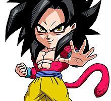 Goku Super Saiyan 4 Chibi by DOPEFLVR