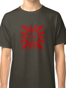 Mandala 34 Version 2 Yin-Yang Colour Me Red  Classic T-Shirt