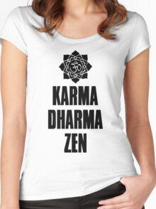 Karma Dharma Zen Women's Fitted Scoop T-Shirt