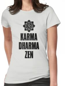 Karma Dharma Zen Womens Fitted T-Shirt