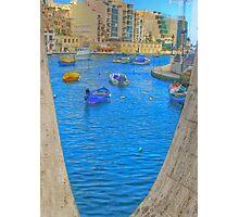 Seen through LOVE, St Julians Malta Photographic Print