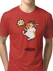 Karate hamster Tri-blend T-Shirt
