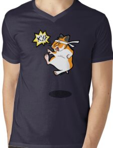 Karate hamster Mens V-Neck T-Shirt