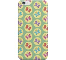 Colourful Whimsical Butterflies Pattern (Green) iPhone Case/Skin