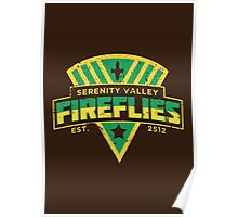 Serenity Valley Fireflies Poster