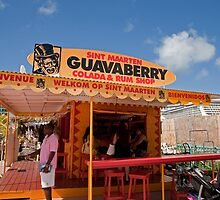 Guavaberry colada and rum shop in St Maarten by Keith Larby