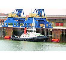 Tug Boat Calais, France Photographic Print