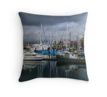 Victoria inner harbour Throw Pillow