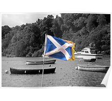Saltire & Lion Rampant - Selective Colouring Poster