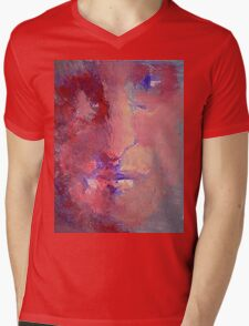 Fire Face  Mens V-Neck T-Shirt