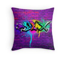 Relax Graffiti Throw Pillow