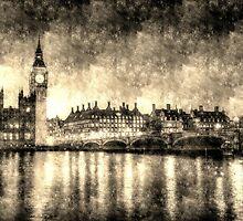 Westminster Bridge and Big Ben Vintage by DavidHornchurch