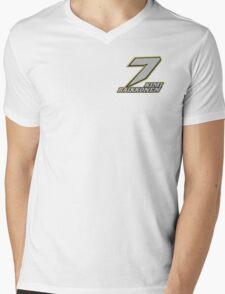 Kimi Raikkonen #7 (Formula One Race Number) Mens V-Neck T-Shirt