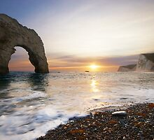 Durdle Door - Sunset by alansmith