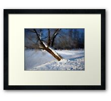 Tree And Snow Impressionism Digital Photomanipulation Framed Print