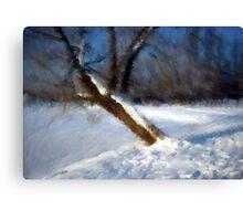 Tree And Snow Impressionism Digital Photomanipulation Canvas Print