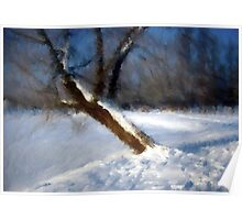 Tree And Snow Impressionism Digital Photomanipulation Poster
