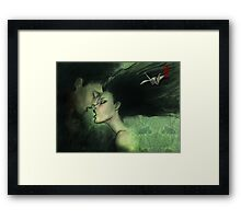 i'll give you the most delicious kiss... Framed Print