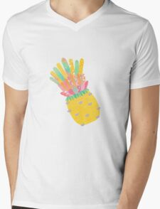 Pineapple Party V2 Mens V-Neck T-Shirt