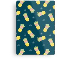 Pineapple Party V2 Metal Print