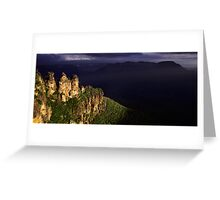 Three Sisters Silhouette Greeting Card