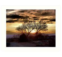 Albuquerque Sunset from High Desert Trails Art Print