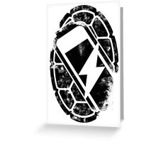 Turtle Power (black) Greeting Card