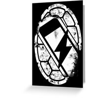 Turtle Power (white) Greeting Card