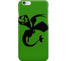 Flygon Silhouette  iPhone Case/Skin