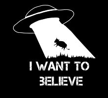 I want to believe - cow abduction by spectralstories