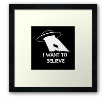 I want to believe - cow abduction Framed Print