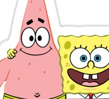 Patrick & Spongebob best friends forever Sticker
