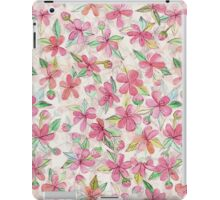 Pink Painted Blossom Pattern iPad Case/Skin