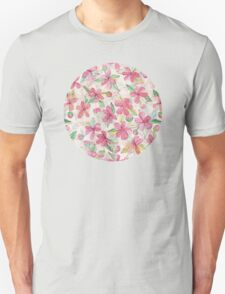 Pink Painted Blossom Pattern Unisex T-Shirt