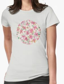 Pink Painted Blossom Pattern T-Shirt