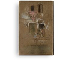 James McNeill Whistler, Note in Pink and Brown 1880 Canvas Print