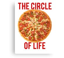 The Circle Of Life Pizza Canvas Print