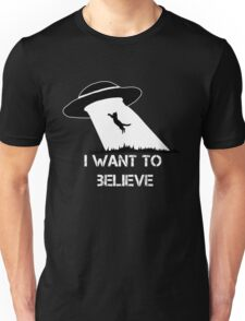 I want to believe - cat abduction Unisex T-Shirt